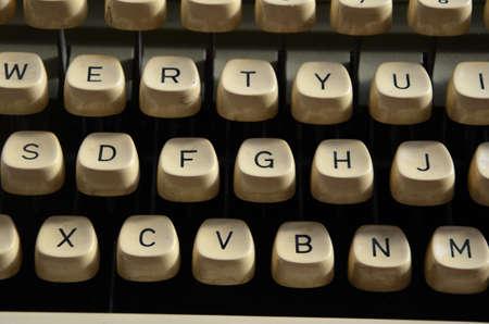 Old Typewriter Machine Alphabet Buttons Stock Photo