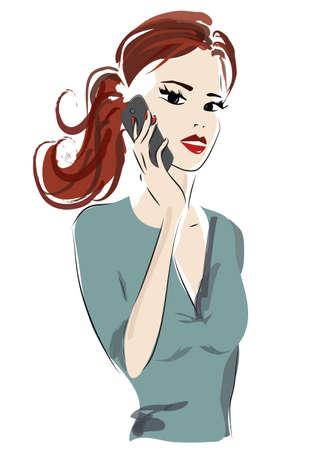 Beautiful Girl Talking on Smartphone