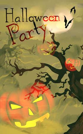 Halloween Celebration Party Invitation with Pumpkin