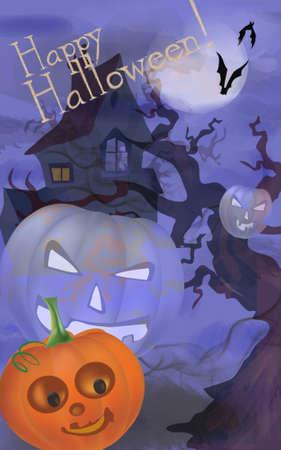 Halloween Celebration greeting Card with Pumpkin