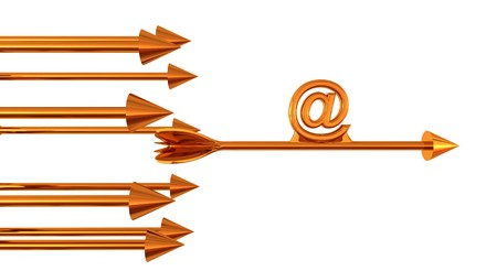 Group of arow and email sign