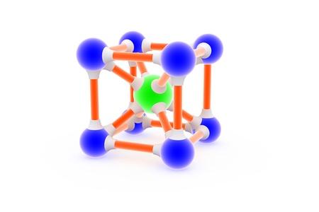 Atom on white.