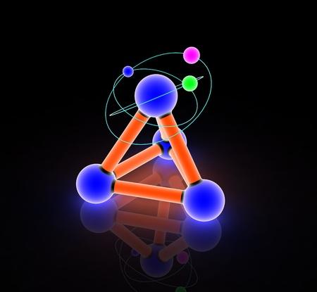 nodal: Atom on white.