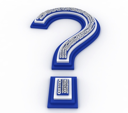 3D question mark Stock Photo - 12178953