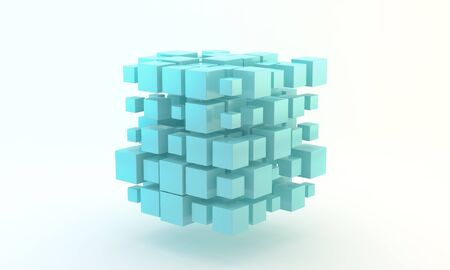 Blue 3D Blocks photo