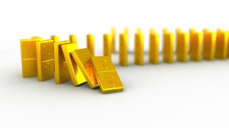 Gold domino dollar