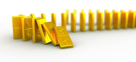 domino effect: Gold domino euro