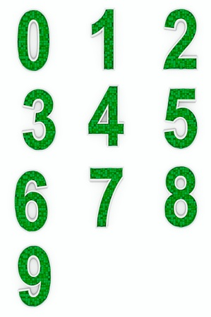 Green numbers from cubes photo