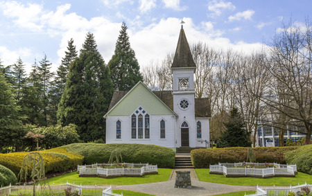 Photo of country church at summer day