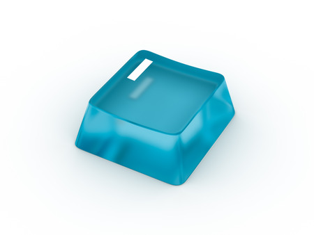 rectángulo: Letra I en botón del teclado transparente