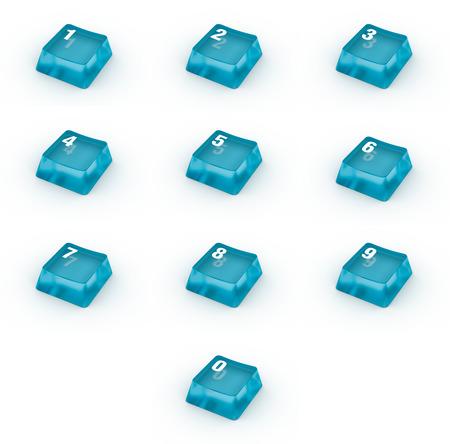 teclado num�rico: Conjunto de botones del teclado con los n�meros Foto de archivo