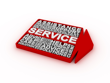 Service concept words Stock Photo