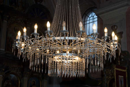 Chandelier in Orthodox church