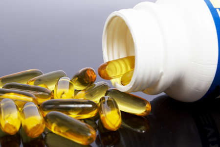 Vitamin Omega-3 fish oil capsules photo