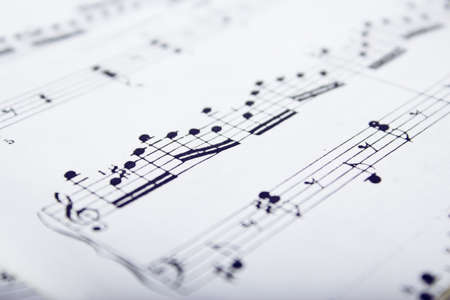 orchestration: Music scores Stock Photo