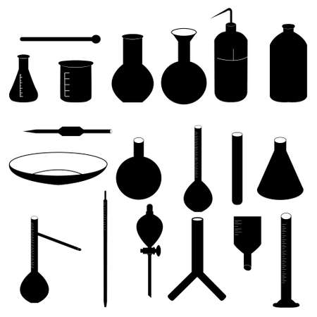 evaporating: Lab equipment Illustration