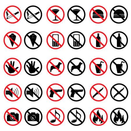 forbidden: Forbidden Signs Illustration