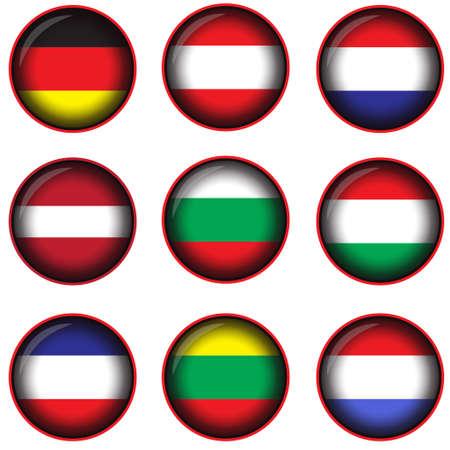 horizontal lines: European flags horizontal lines