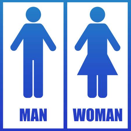 restroom sign: Restroom sign