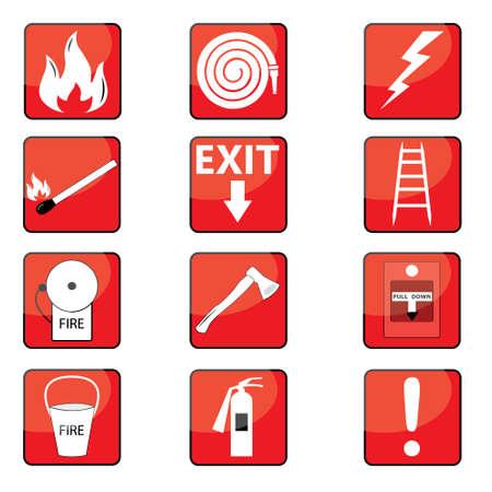 evacuation equipment: Fire Signs