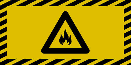 Fire caution sign