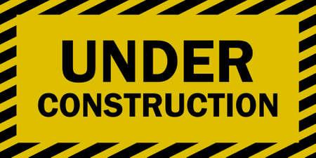 hazard stripes: Under construction sign