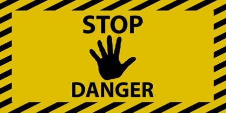 danger sign: Stop danger sign