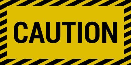 hazard stripes: Caution sign
