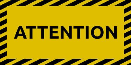 Attention sign Illustration