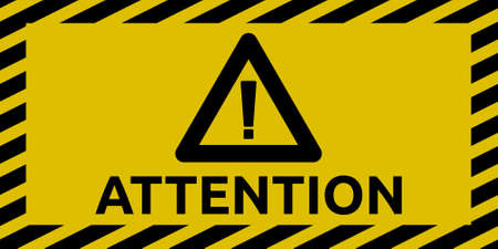 hazard stripes: Attention sign Illustration