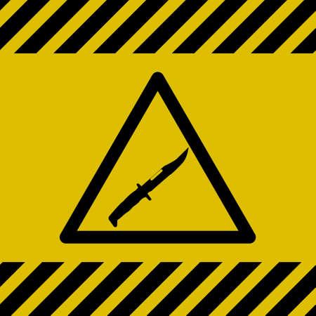 Caution Danger Sign (Knife)