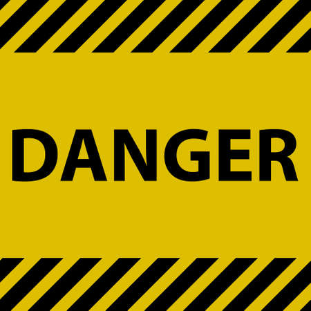 traffic barricade: Danger sign