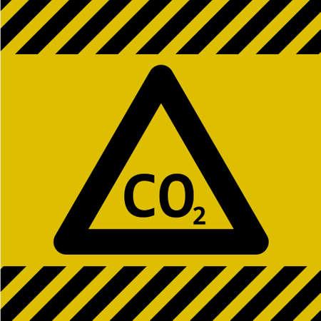 Achtung Gefahr Schild (Kohlendioxid) Illustration