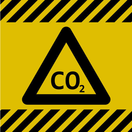 Caution Danger Sign (Carbon dioxide)
