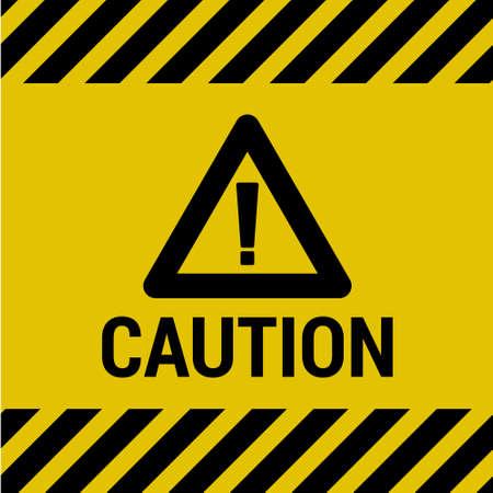 hazard stripes: Caution Sign Illustration