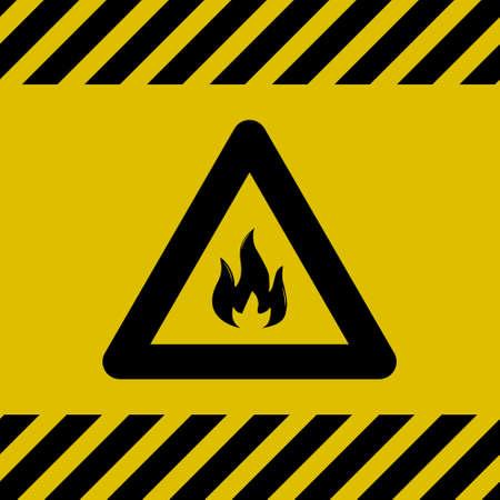 Feuer Vorsicht Zeichen