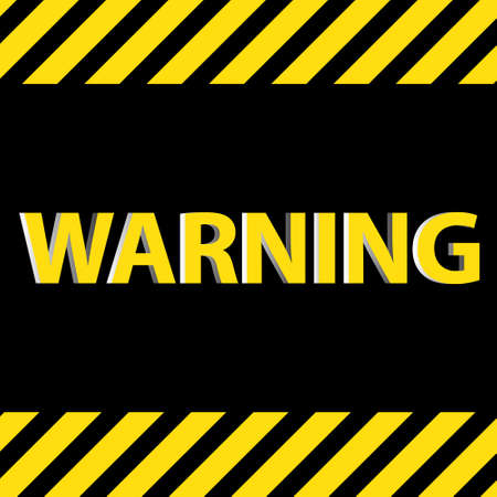 Warning sign 3D