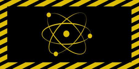 Atom sign wide Illustration