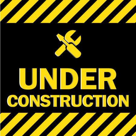 traffic barricade: Under construction sign