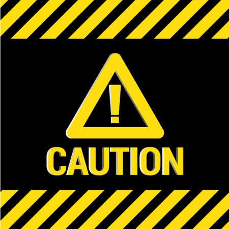 Caution sign 3D