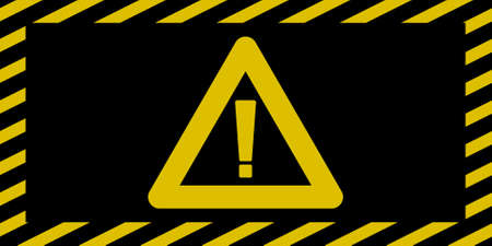 hazard stripes: Cautiondanger sign wide