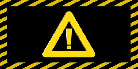 Vorsicht  Gefahr Zeichen weit 3D Illustration