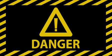 hazard stripes: Danger sign wide Illustration