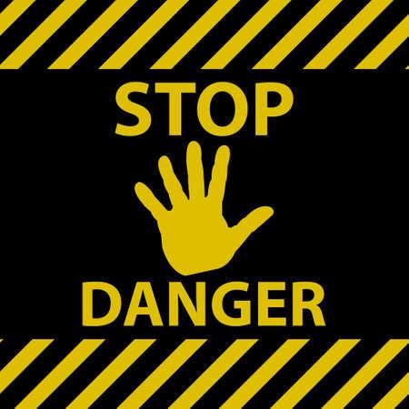 hazard stripes: Stop danger sign
