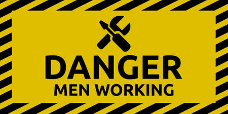 Men working sign Illustration