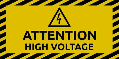 High Voltage Sign Illustration
