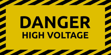 high voltage: High Voltage Sign Illustration