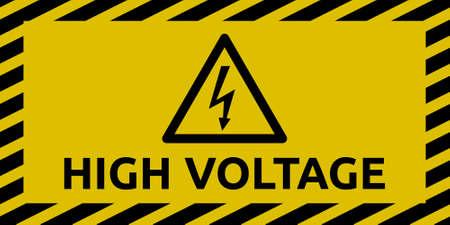 High Voltage Anmelden Vektorgrafik