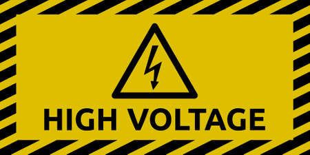 High Voltage Sign Illustration