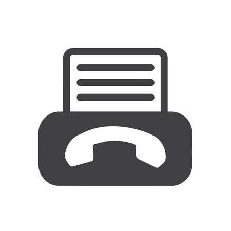 Fax icon Stock Vector - 75344160